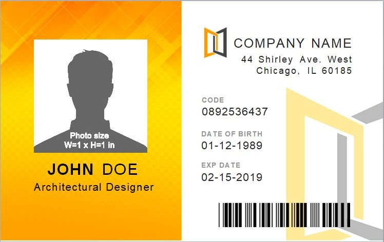 18 Best Identification Card Designs Templates Word Excel Id Card Template Card Template Download Birthday Cards