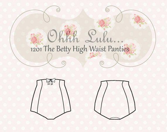 High Waist Panties Sewing Pattern Vintage Style Pin Up Ohh Lulu 1201 ...