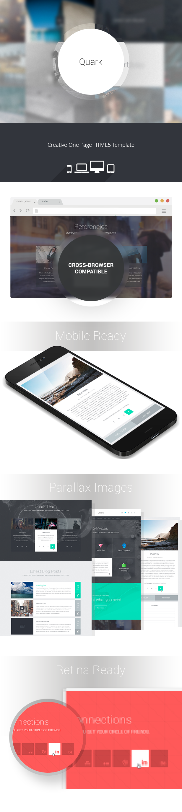 Quark - responsive one page HTML5 template (Corporate) - http ...