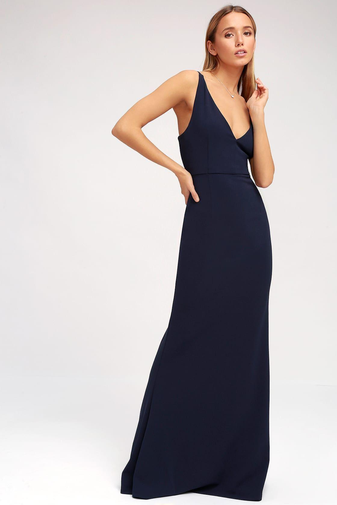 994ac0ae10 Lulus | Melora Navy Blue Sleeveless Maxi Dress | Size Large | 100 ...