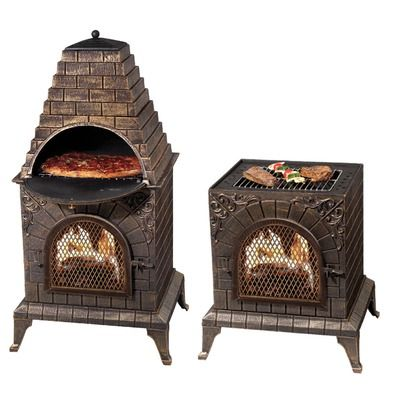 Deeco Aztec Allure Pizza Oven Outdoor Fireplace Pizza Oven