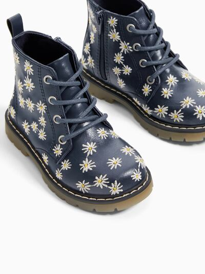 ZARA - Unisex - Daisy boots - Navy blue