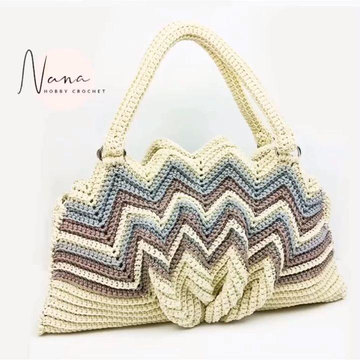 DIY SEASHELL CROCHET PURSE #crochethandbags