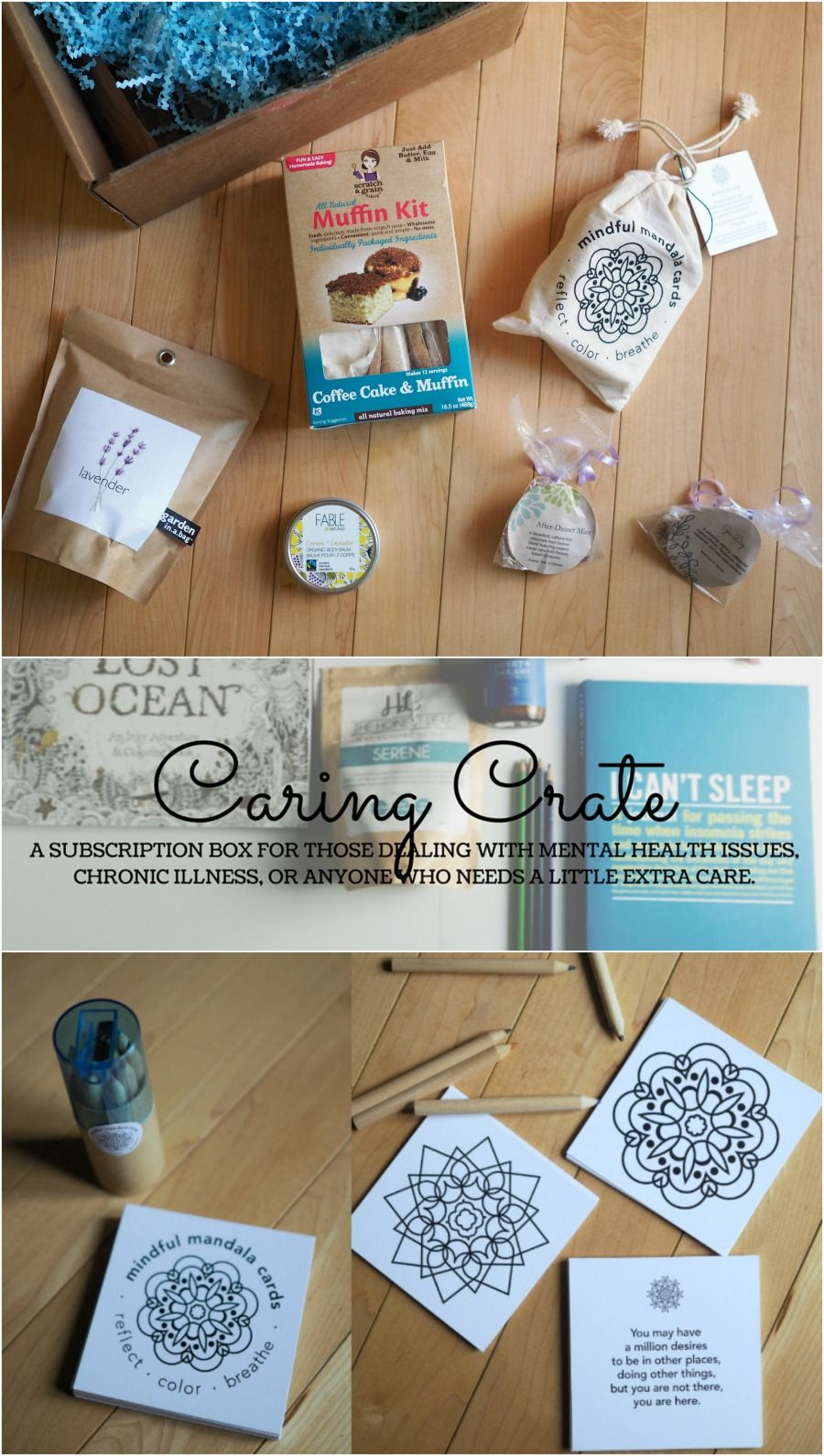 Caring crate self care subscription box craft box