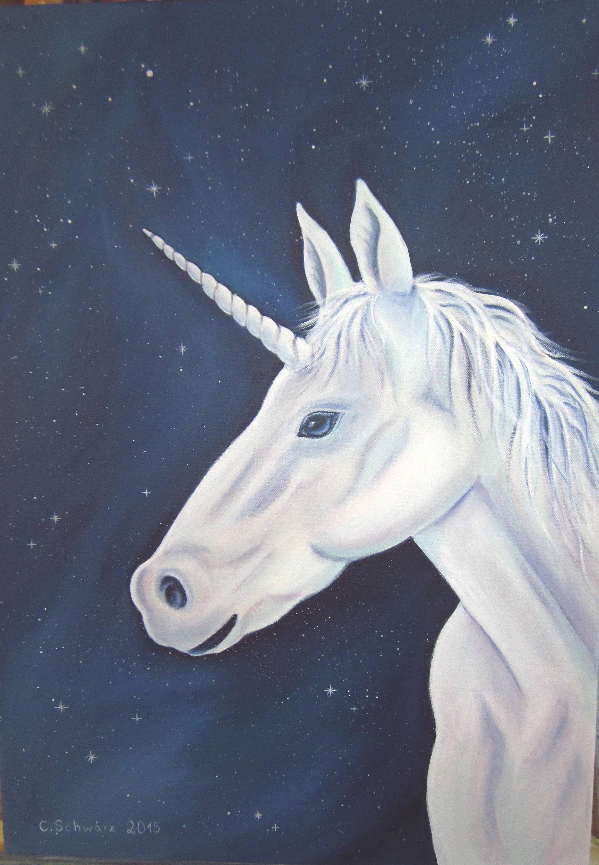 Einhorn Original Acrylgemalde Kunst Malerei Bild Gemalde Pferd Acryl Fantasy Marchen Pferd Leinwandbild 50cm X 70cm Von Acryl Horses Animals Christmas Wishes