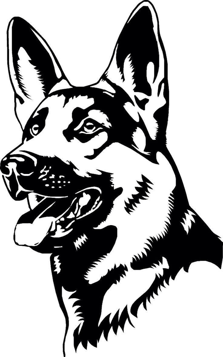 Deutscher Schäferhund - Bilder+  Dog tattoos, Dog stencil