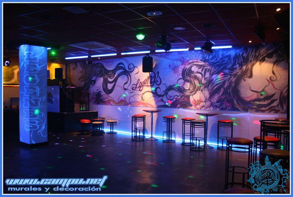 Mural discoteca legends decoraci n de comercios - Ideas para discotecas ...