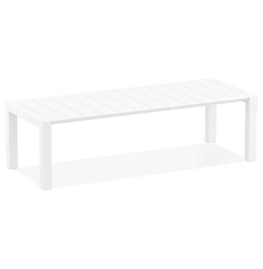 Table de jardin extensible ´ELASTIK LARGE´ blanche - 260(300 ...
