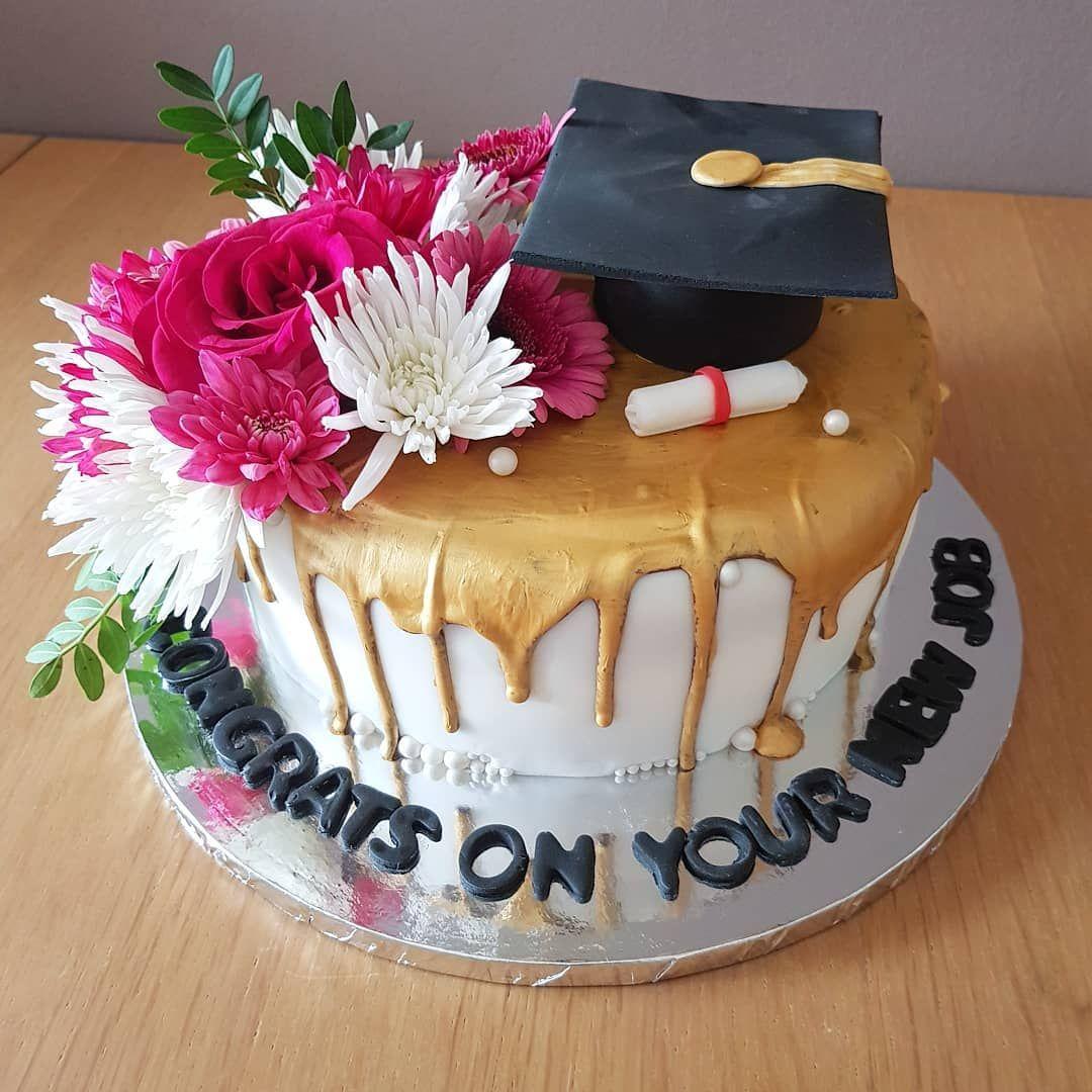 New Job And Graduation Cake Graduation Newjob Celerbation