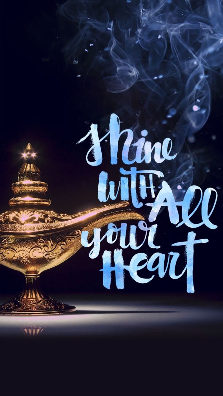 Shine with all your heart... (Tia) iPhone 6 wallpaper background ... for Aladdin Lamp Wallpaper  61obs