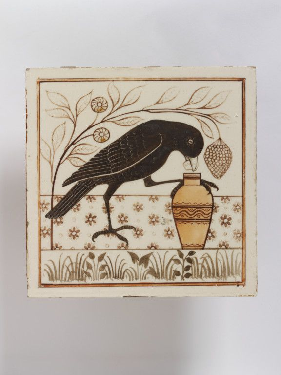 Minton Hollins tile from the Victoria and Albert Museum