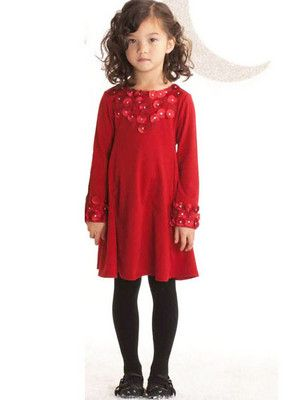 92784c730 Biscotti Red Falling For Dots Little Girls Dress