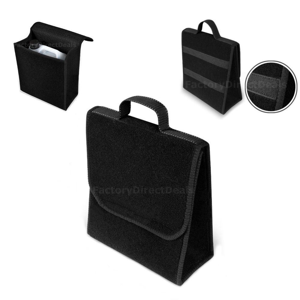 Details About Top Quality Carpet Car Boot Storage Tidy Organizer Bag