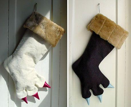 monster christmas stockings neatorama
