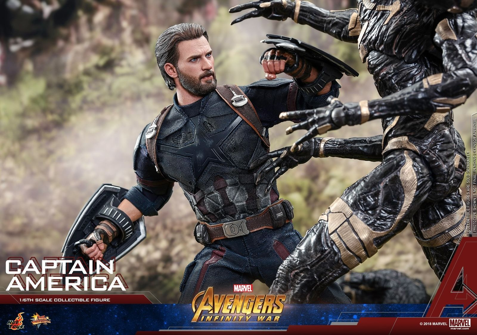 Hot Toys Avengers Infinity War 1 6th Scale Captain America Figure