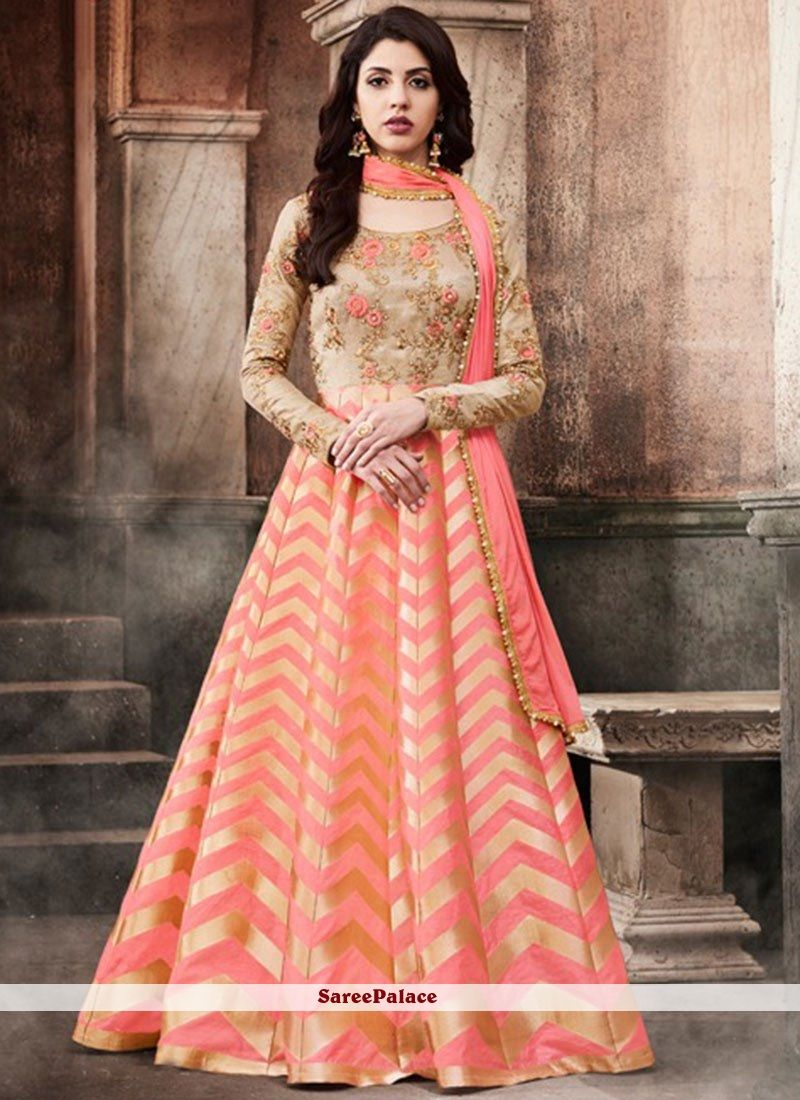 Haute embroidered work floor length anarkali suit dress salwar