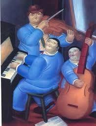 Botero Tres Musicos Google Search Las Bellas Artes Painting