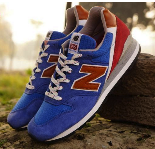 new balance 996 blue/brown-red