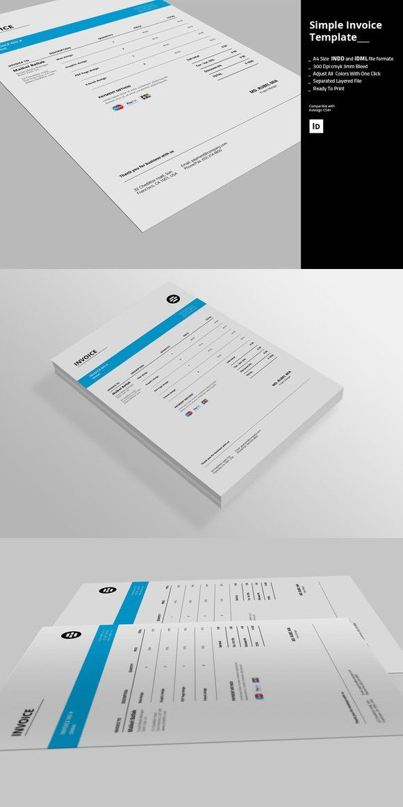 Simple Invoice Templates   Stationery Templates   Pinterest     Simple Invoice Templates  Stationery Templates