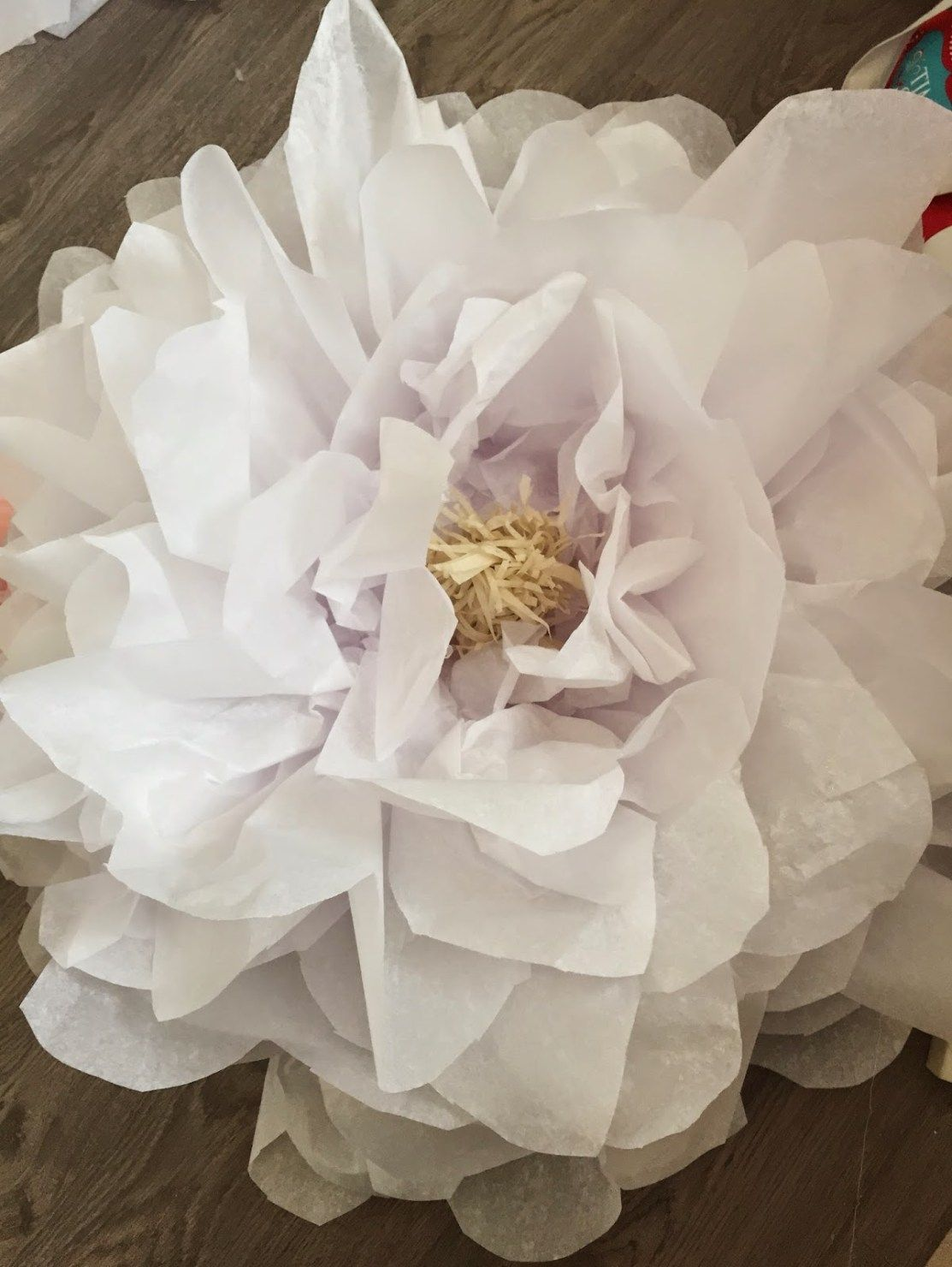 How to make giant tissue paper flowers · The Glitzy Pear #giantpaperflowers