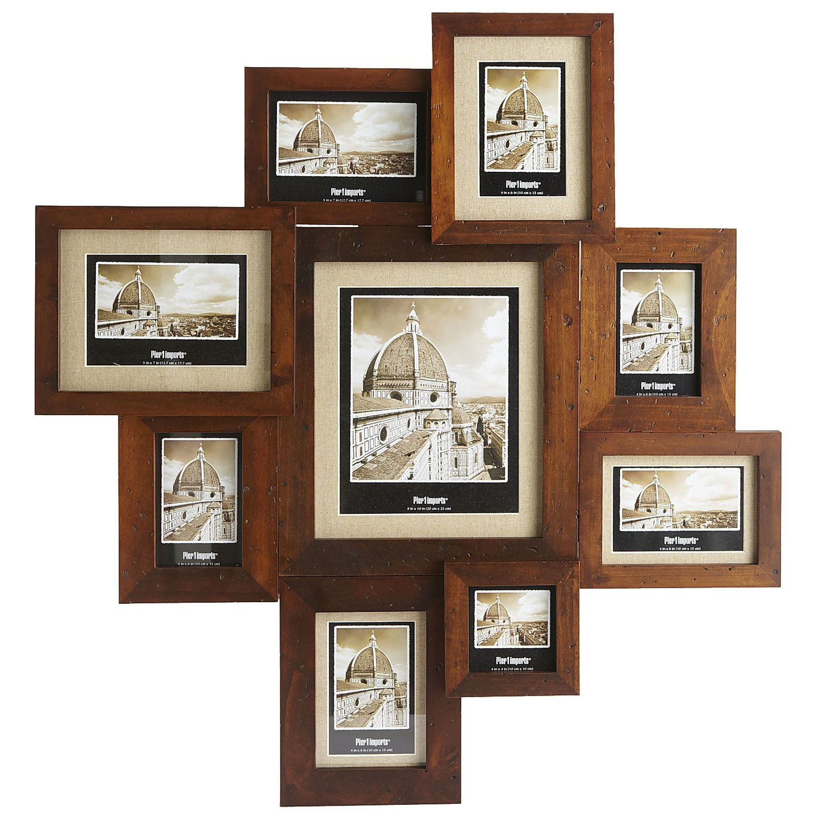 Multiple Picture Frames Wood Wood Collage Frame 8 Photos Multiple ...