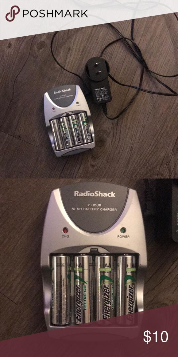 Radioshack Double Aa Battery Recharger Radioshack Double Aa Battery Recharger Comes With The Four Rechargeable Bat Battery Rechargeable Batteries Aa Batteries