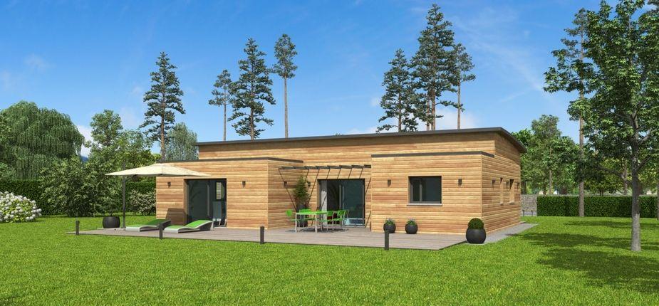 Le modèle Natimoé Bacacier Ce modèle plain-pied dispose du0027une belle - construire son garage en bois