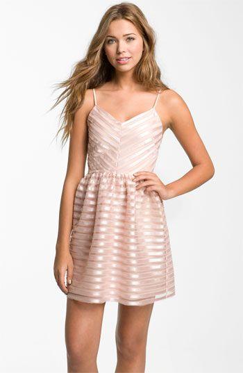 Necessary Objects Satin Stripe Minidress Juniors Nordstrom Mini Dress Fashion Idol