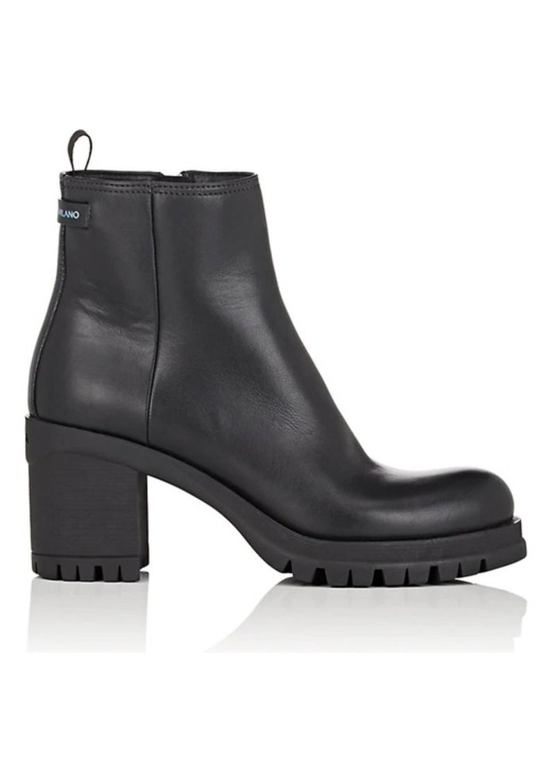 92ff19de215 Prada Prada Women's Lug-Sole Leather Ankle Boots | Shoes in 2019 ...