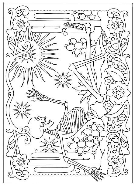 day of the dead coloring pages dogs Haven Day Of The Dead Coloring