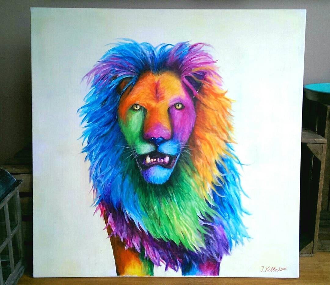 Mein Löwenbild überarbeitet A Revised Version Of My Lion Painting Kunst Kunstwerk Gemälde Künstler Popart Modernekunst Painting Kunstwerke Gemälde