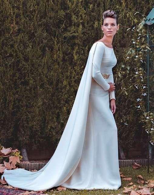 tendencias de boda 2017: vestidos de novia con capa [fotos] - capa
