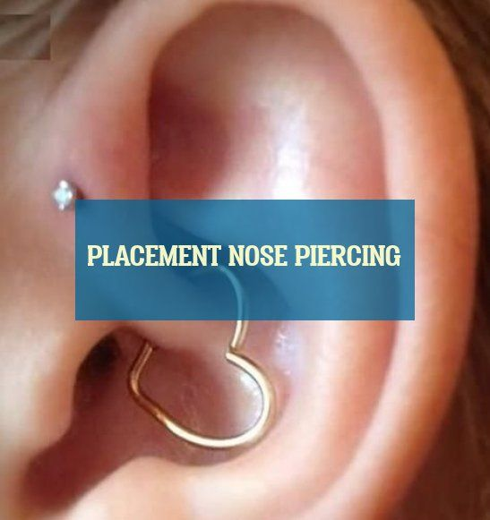 placement nose piercing