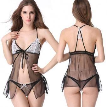 39e5c74fc9 Compra Zeagoo señoras de las mujeres Sexy babydoll lencería conjunto con  tanga de Cupless Busto