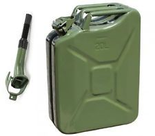 5 Gallon Jerry Can Gas Fuel Steel Tank Green Military NATO Style 20L Storage Can $40