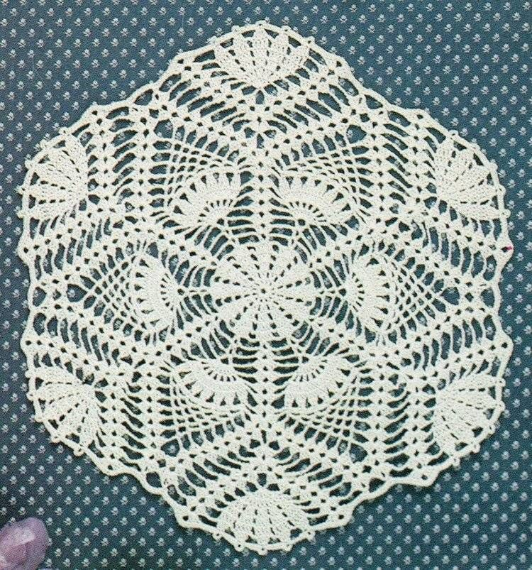 Pineapple Doilies Crochet Pattern Book 6 Doily Patterns Instructions