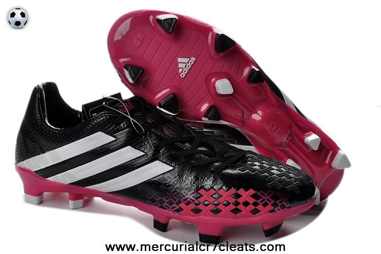 2014 2013 Adidas Predator Black White Pink On Sale Predator Football Boots Adidas Soccer Shoes Adidas Predator