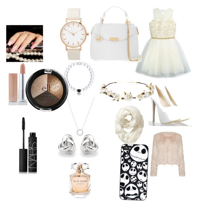 """""""It's a white party"""" by kmac11504 on Polyvore featuring David Charles, Alice + Olivia, Versace, Cult Gaia, Old Navy, Everest, Michael Kors, Georgini, Elie Saab and NARS Cosmetics"""