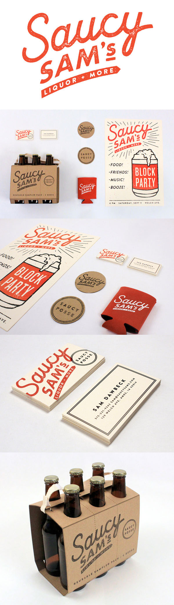 Saucy Sam's – Branding and Packaging by Alex Register