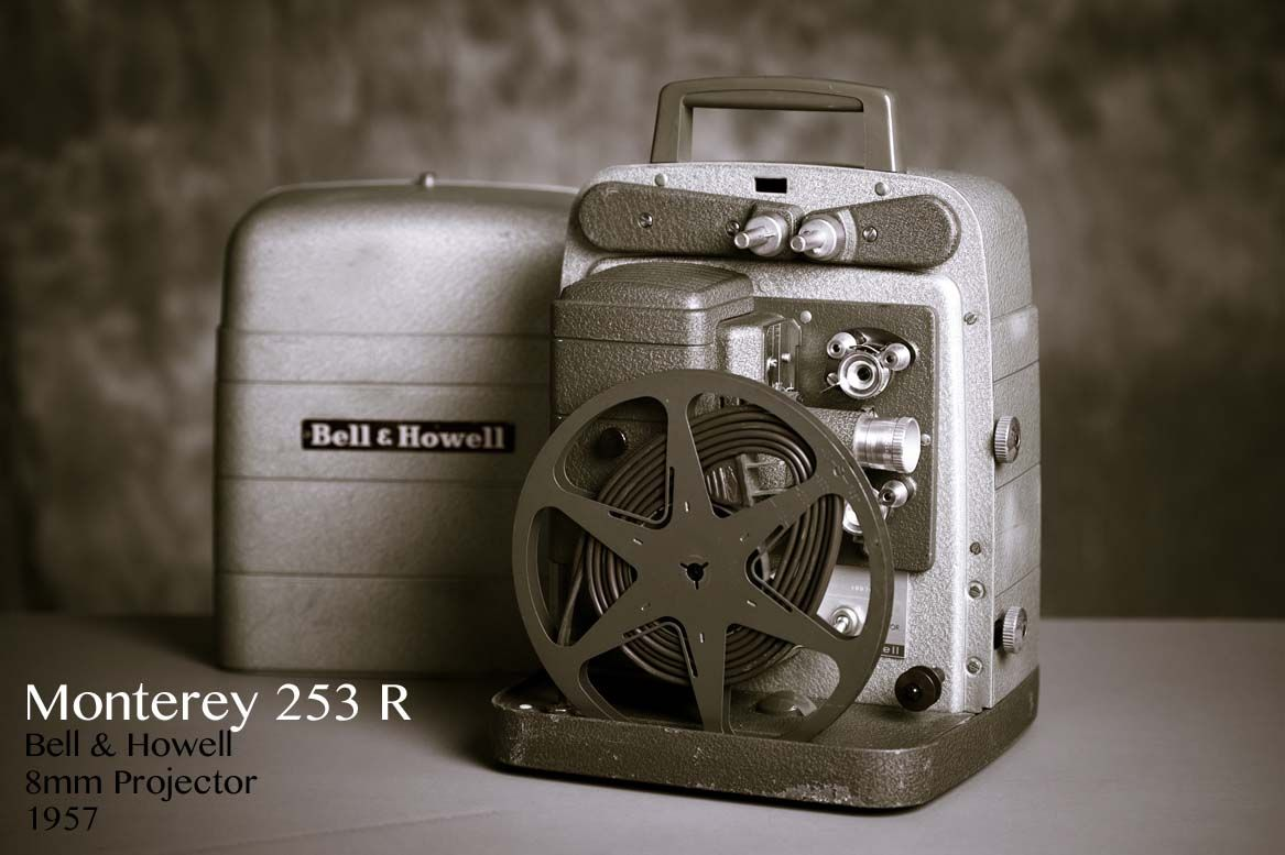 Here's a photo I took of my 1957 Monterey 253 R, Bell & Howell 8mm Movie Projector--it works quite well!