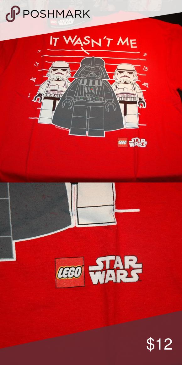 bc5e2a04b Star wars lego boys kids t shirt darth vader Lego Star Wars Darth Vader and storm  troopers short sleeve boys t shirts. this is for size 14 - 16 boys shirt ...