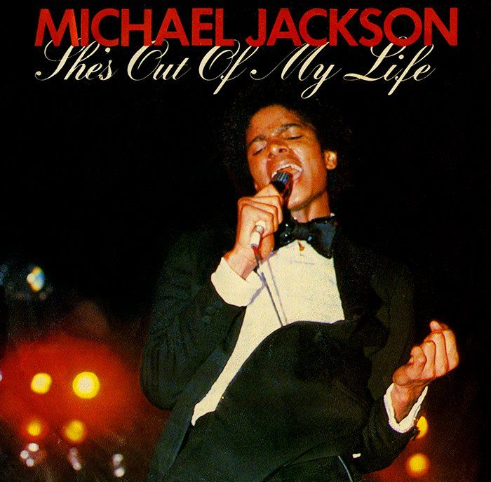 Michael Jackson – She's Out of My Life (single cover art)