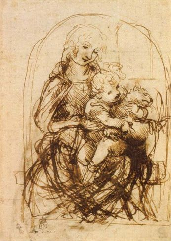 Leonardo da Vinci - Madonna del Gatto | art | Pinterest
