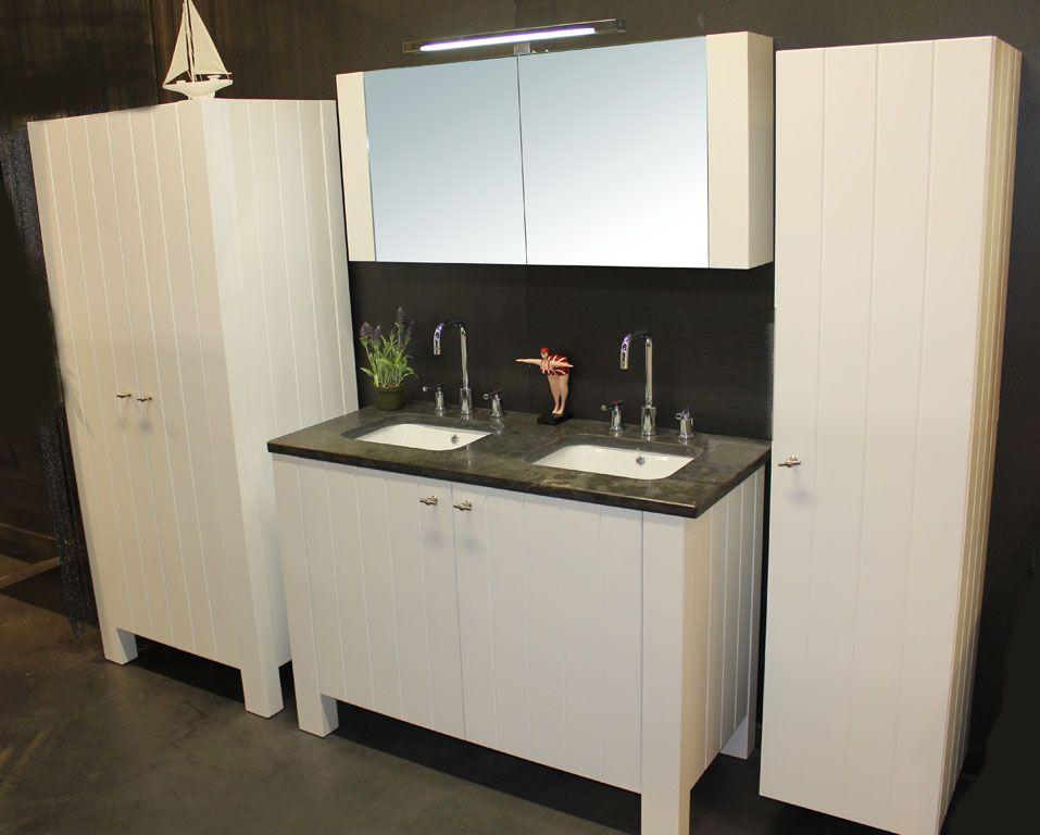Badkamermeubel jack wit dubbel meer modellen in onze showroom in ninove http www - Badkamer meubels ...