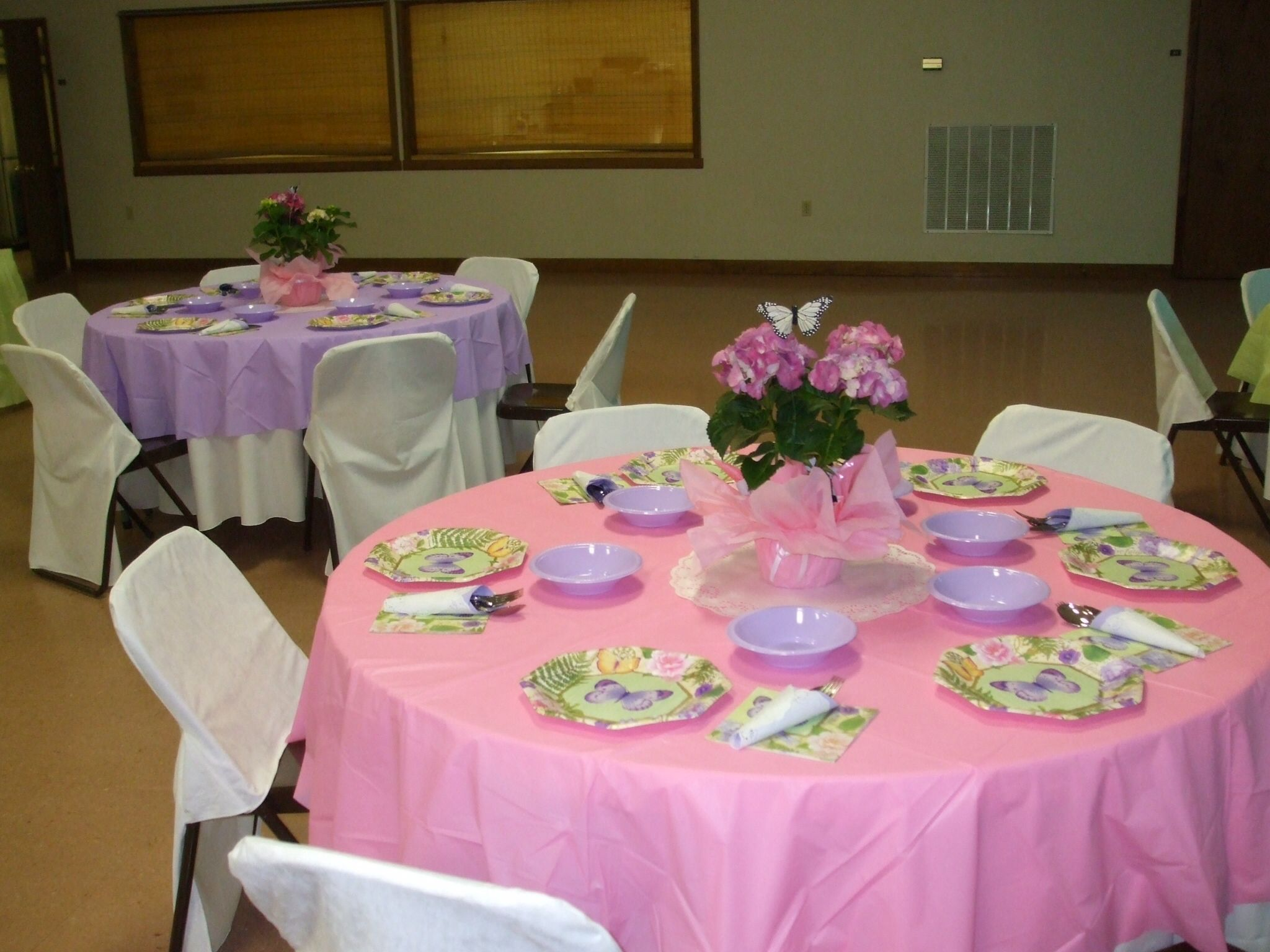 Table Decoration Ideas For Banquet This Was Done A Mother Daughter Not Very Expensive