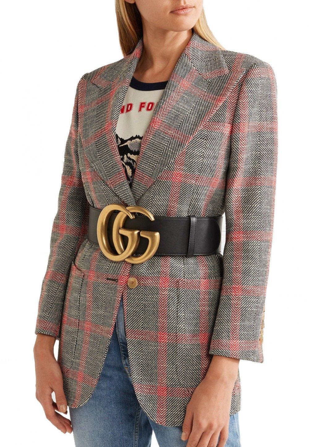 c74bc978c Replica Handbags Gucci Double G 453265 Black Wide leather belt online store