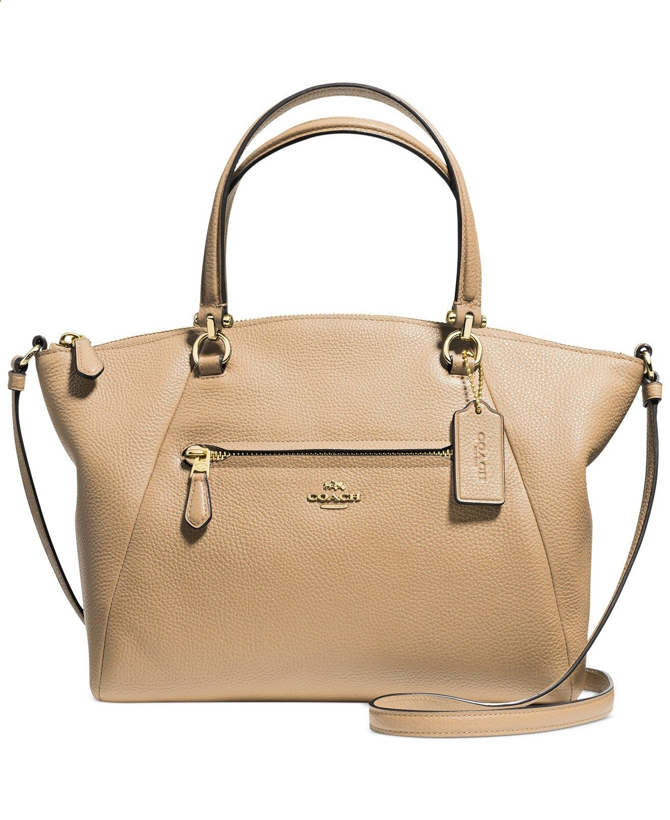coach leather handbags outlet d7r0  COACH PRAIRIE SATCHEL IN PEBBLE LEATHER