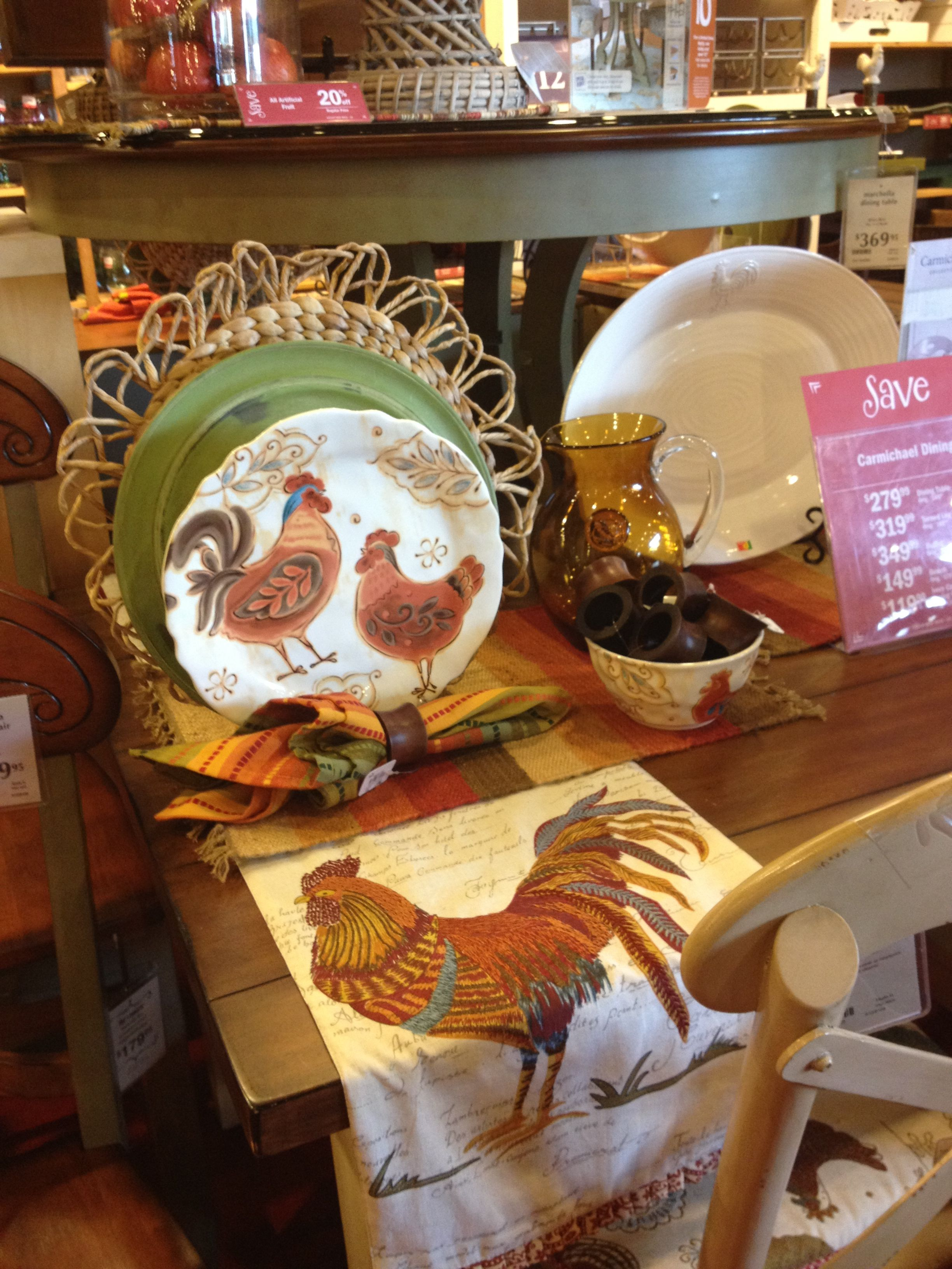 Love this Pier 1 Rooster decor For the Home