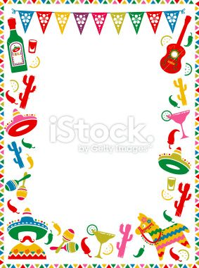 a mexican themed border ideal for menus or party invites see below