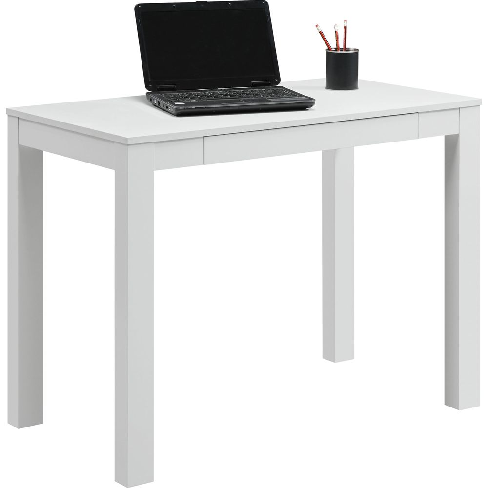 Altra Parsons Desk With Drawer White